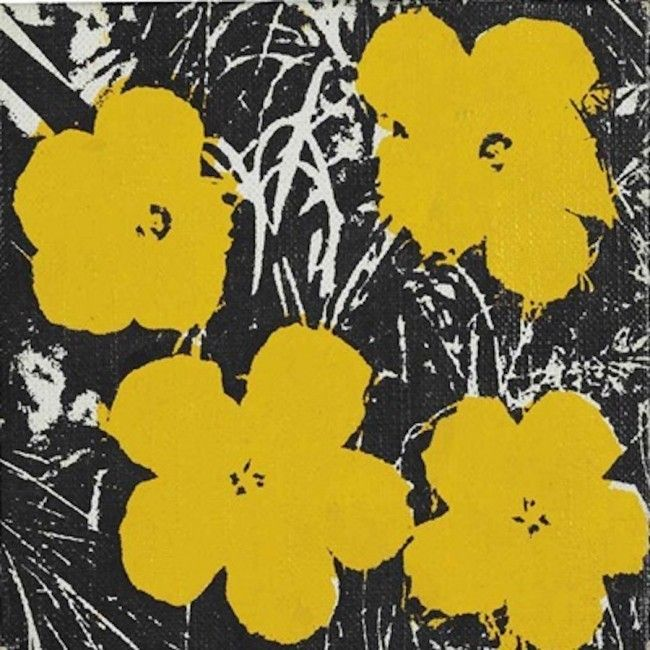5 inch Flower Paintings  | Andy Warhol, 5 inch Flower Paintings  (1964)