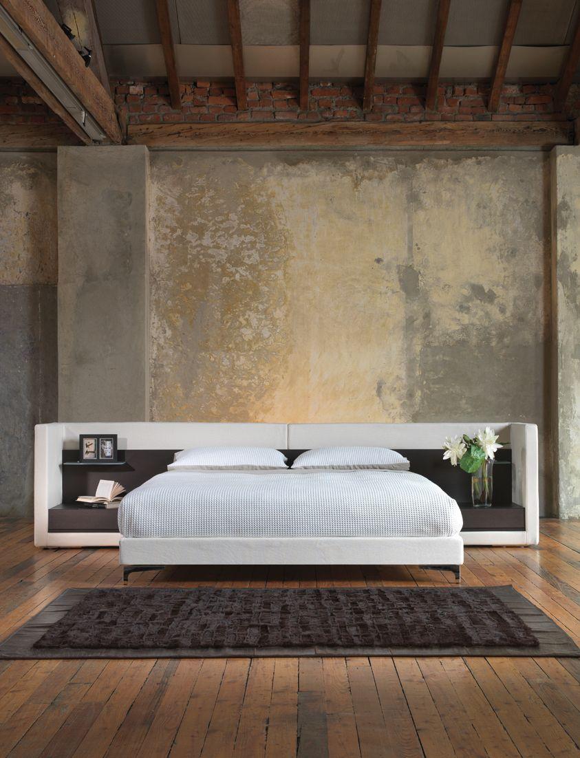 Idee Testiera Letto Matrimoniale queen bed. letto matrimoniale con testata in legno e