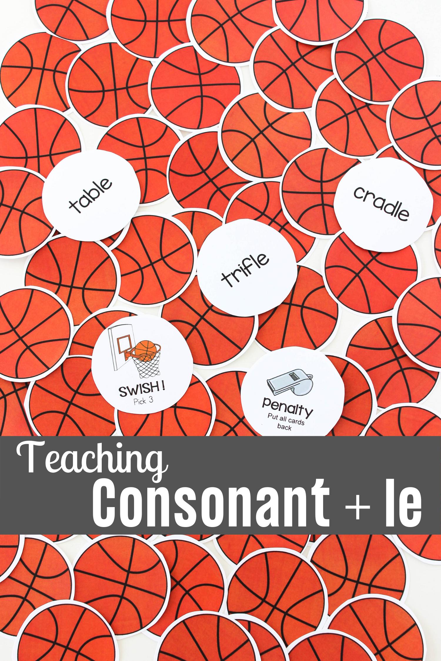 Teaching Consonant Le A Basketball Themed Activity