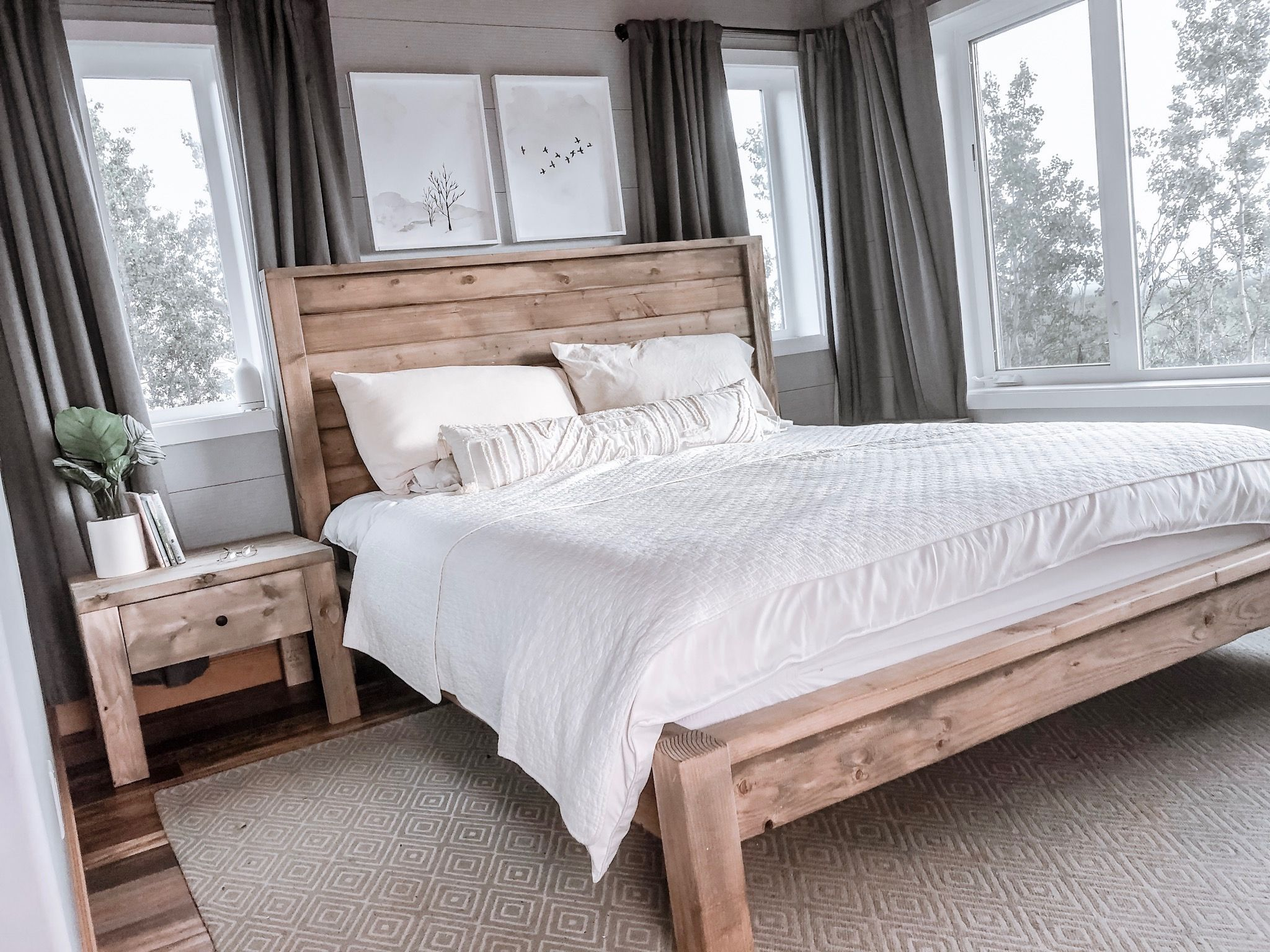 Modern Farmhouse Bed Frame Farmhouse bed frame, Bed