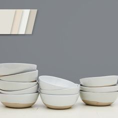 These bowls are just waiting to be filled with that special nature inspired meal.  Software (SW7074) / wall.