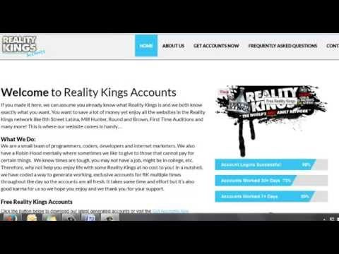 Free Reality Kings Account Exclusive Logins 12 2015