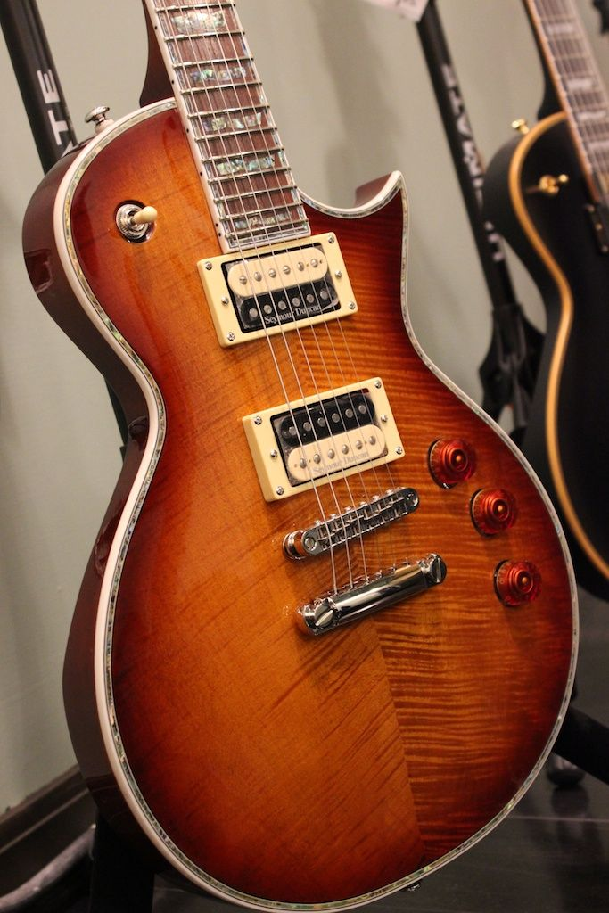 EC-1000 by LTD Deluxe with a stunning amber sunburst finish