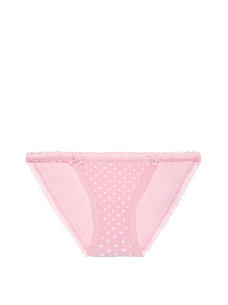 4a02796042425 Lace-waist String Bikini Panty - Cotton Lingerie - Victoria's Secret ...