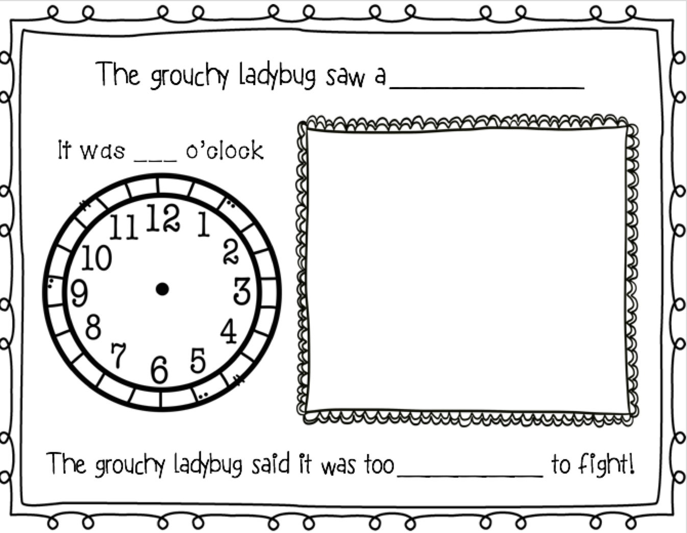 The Grouchy Ladybug Literature Amp Math Unit