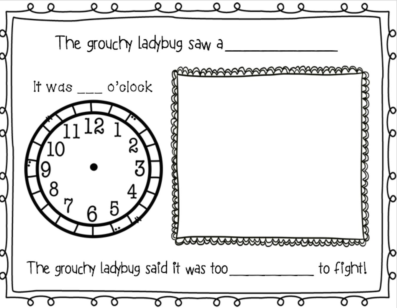 The Grouchy Ladybug Literature Amp Math Unit