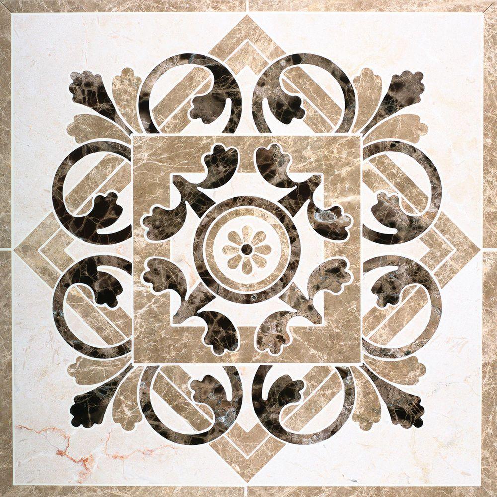 Foyer Medallion Designs : Marble waterjet medallion for tile floors love them in