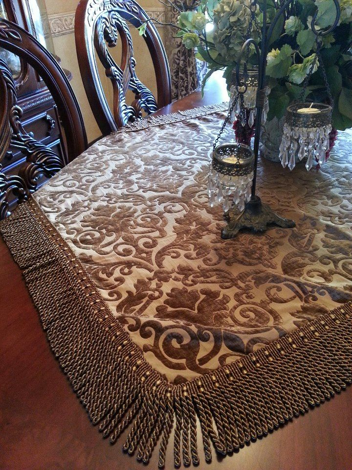 Beautiful Table Runners Tuscan Table Table Runner Diy Fancy Table