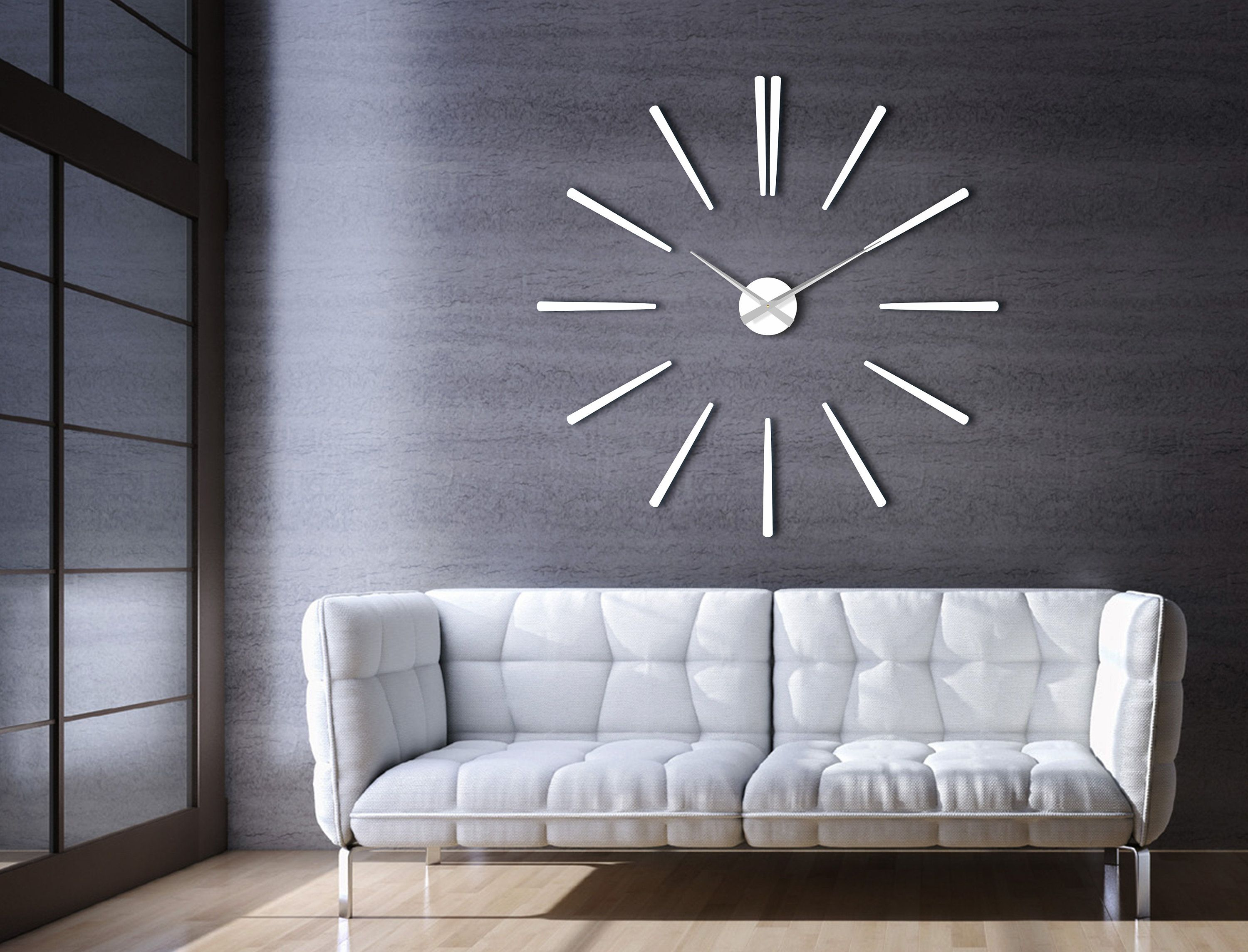 Excited To Share The Latest Addition To My Etsy Shop Large Modern Wall Clock White Elegance 65 Cm Large Wall Clock Modern Wall Clock Modern Huge Wall Clock