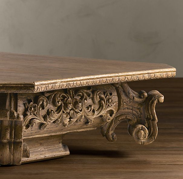 Baroque Capital Coffee Table Porch Furniture Carved Furniture