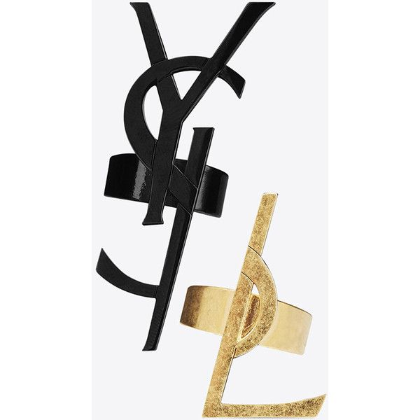 Saint Laurent TWO TONE MONOGRAM RING 6UiO9030
