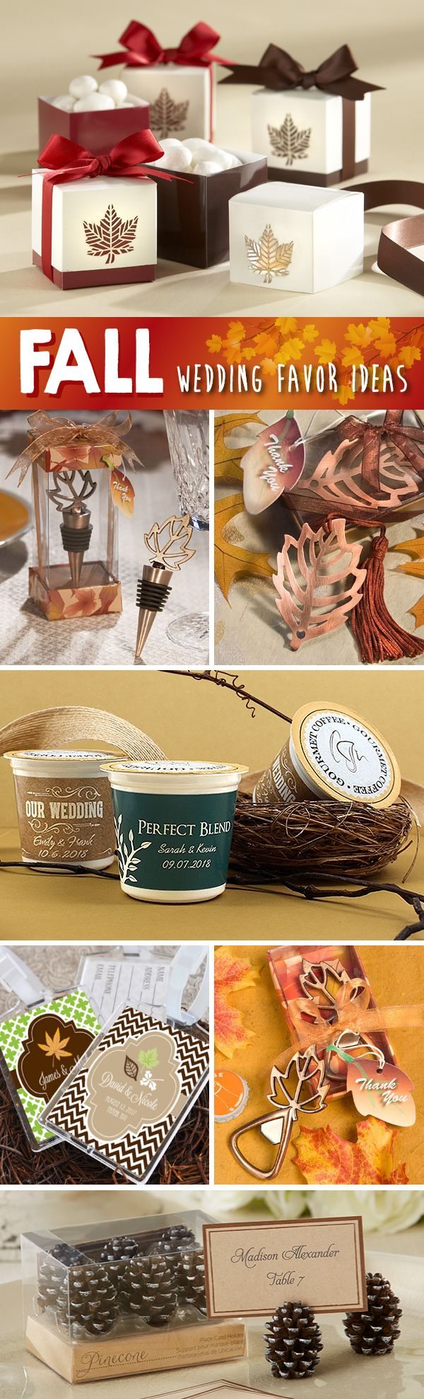 100 Festive Fall Wedding Favor Ideas Wedding Ideas The Wedding