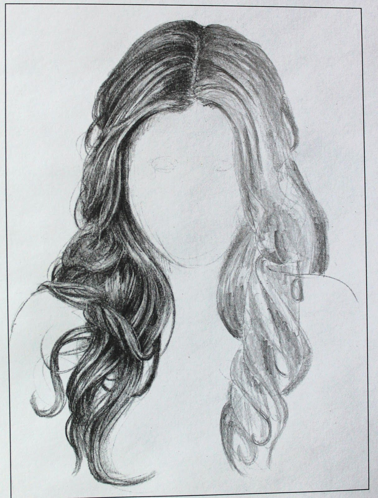 Hair Sketches Long Hair Sketches The Left Side Of The Sketch Hair Sketch How To Draw Hair Drawings Of Friends
