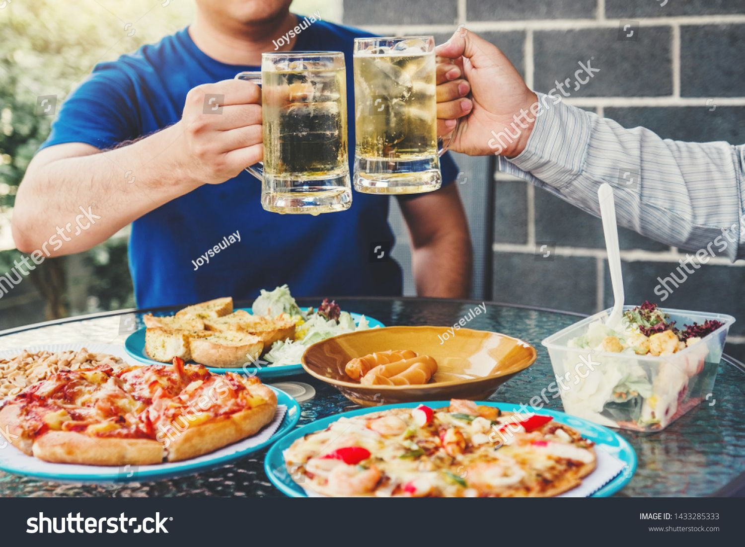 Afternoon Party Group friends enjoying drinking beer with barbecue and roast pork happy while enjoying home party #Sponsored , #Affiliate, #friends#enjoying#drinking#Afternoon