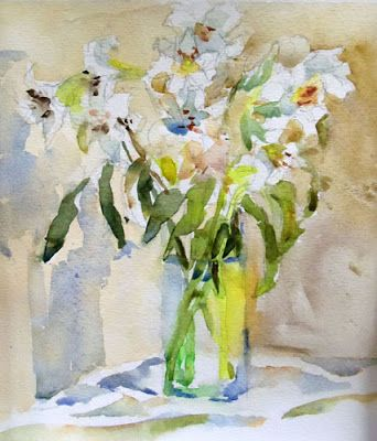 Elegant Herb Study Original Watercolor Still Life Painting By