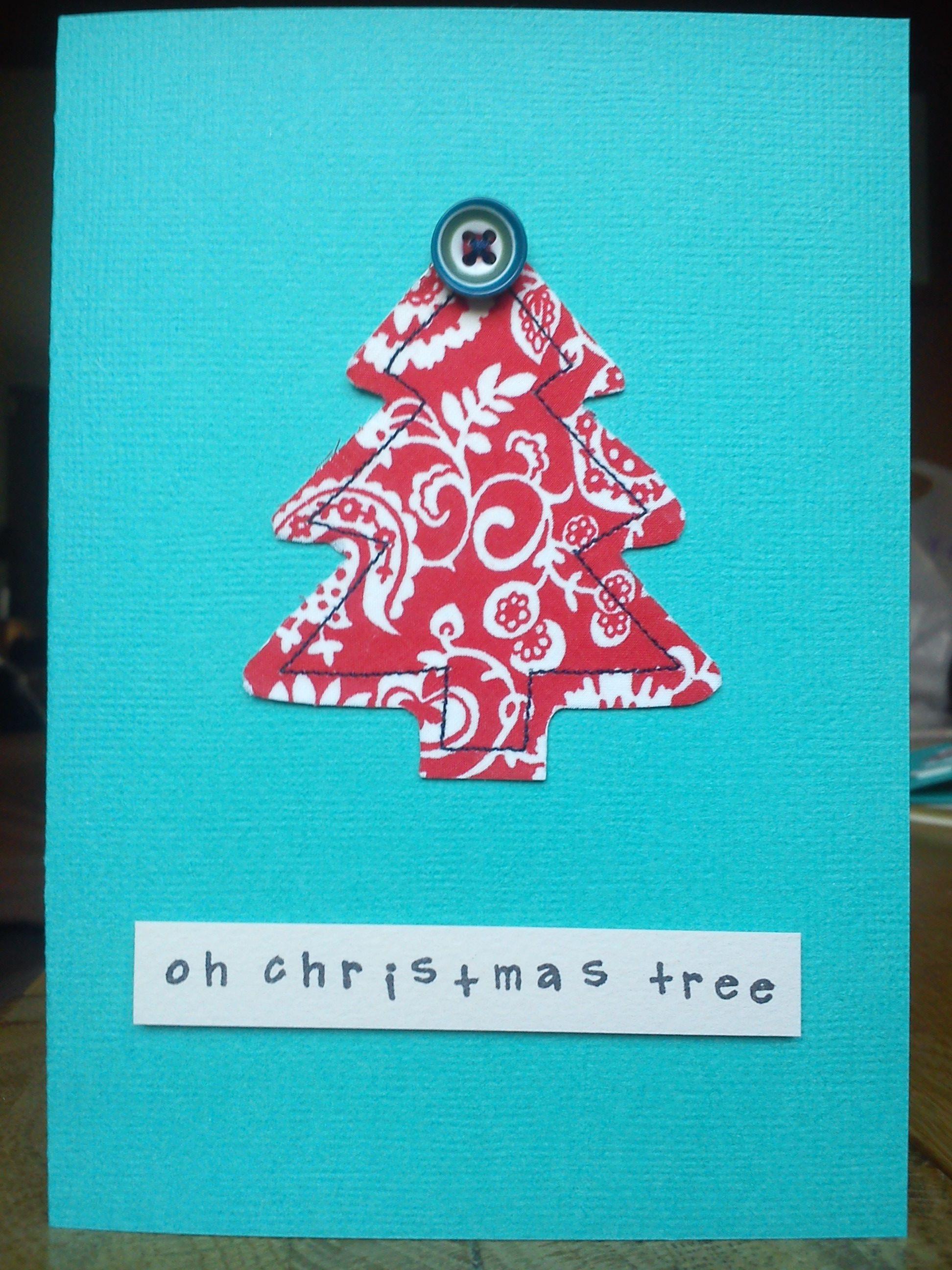 Handmade christmas robin decoration claire hurd design - Handsewn Christmas Tree Card Made With Liberty Fabric