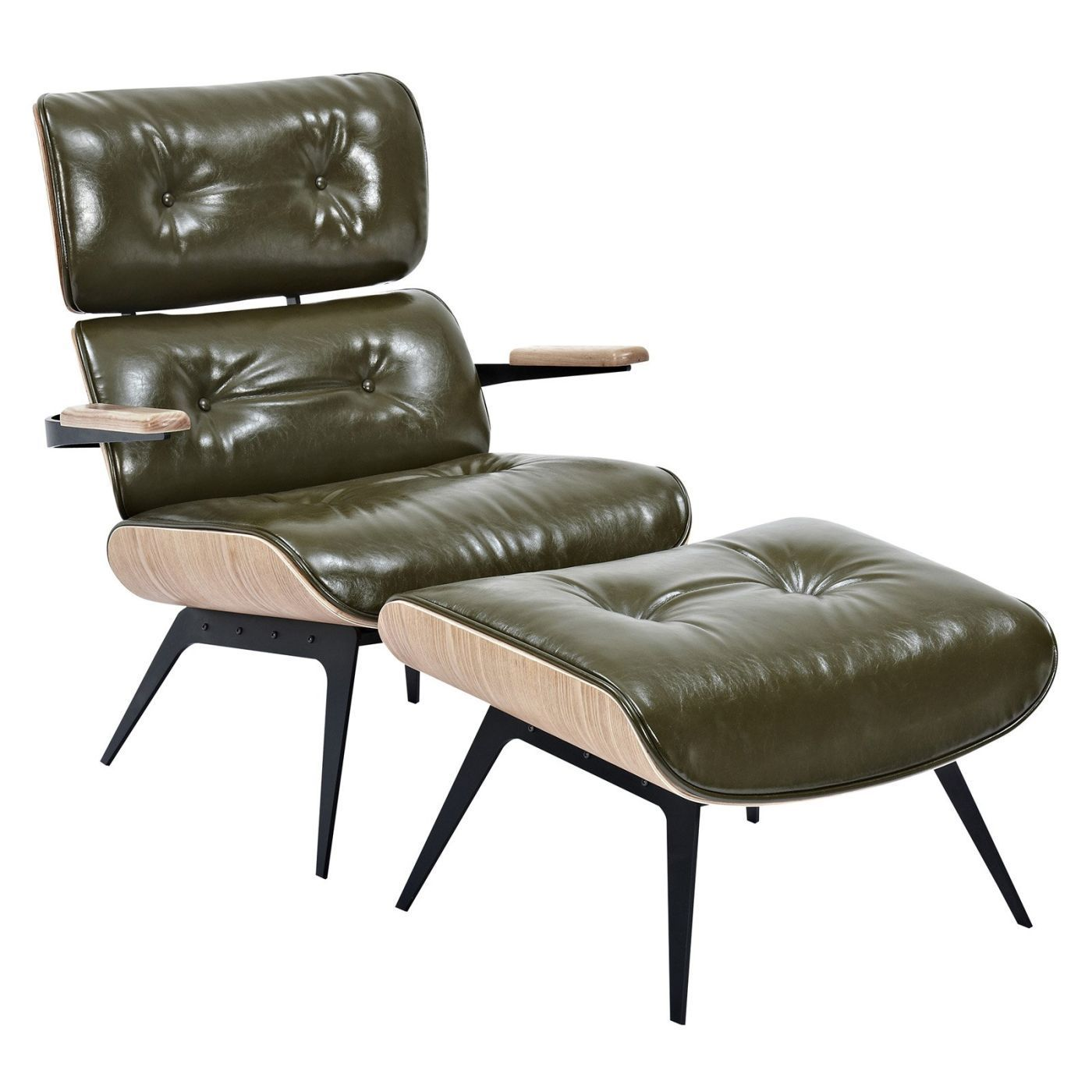 Swell Eames Inspired Lounge Chair And Ottoman Olive Green Gmtry Best Dining Table And Chair Ideas Images Gmtryco