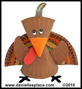 This turkey craft project was made using paper plates. These turkey projects would add a  sc 1 st  Pinterest & This turkey craft project was made using paper plates. These turkey ...