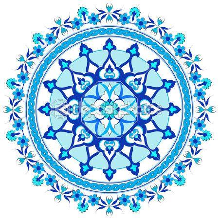 Blue Oriental Ottoman Design Twenty Seven Orientalische Muster Orientalisch Muster