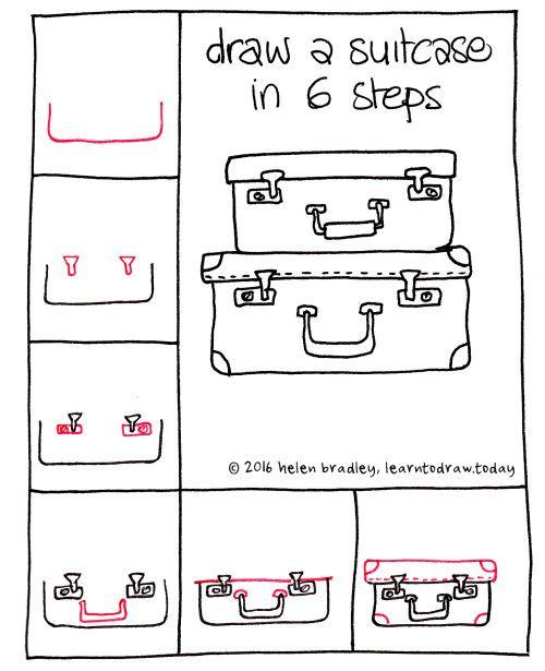 2017 01 en kuffert koffer zeichnen diy zeichnen for Sofa zeichnen kinder