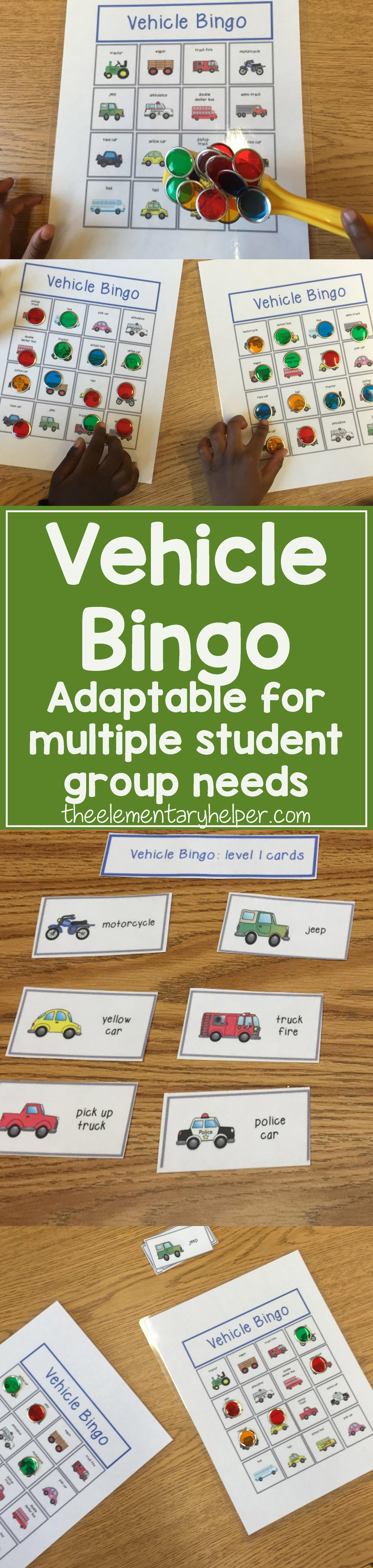 Vehicle Bingo With Images