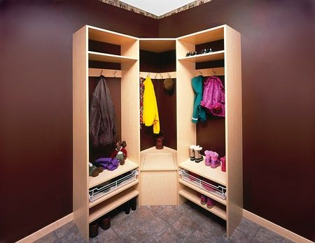 DIY Corner Closet For Basement Room