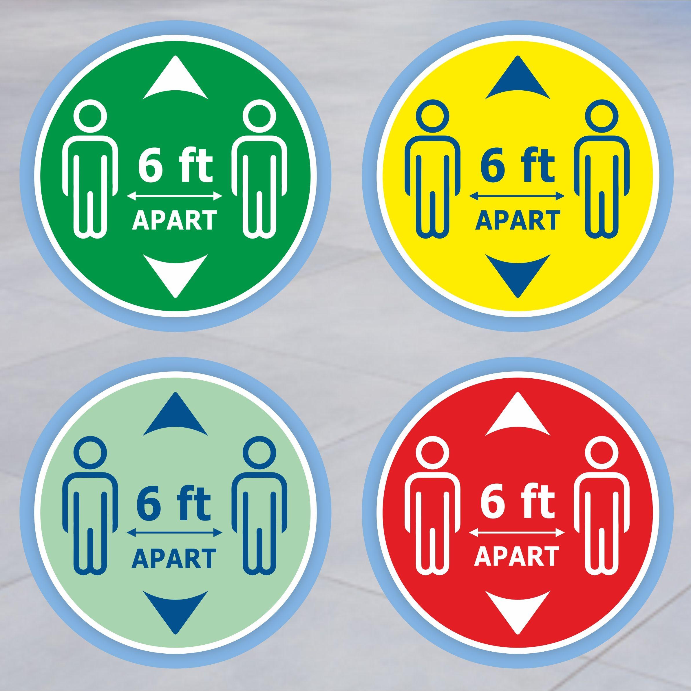 6 Feet Apart Stickers in 2020 Floor stickers, Floor