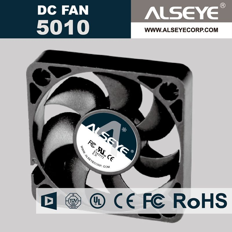 Alseye 5010rvh N1 5piece Lot Dc Cooling Fan 12v 0 35a 5000rpm