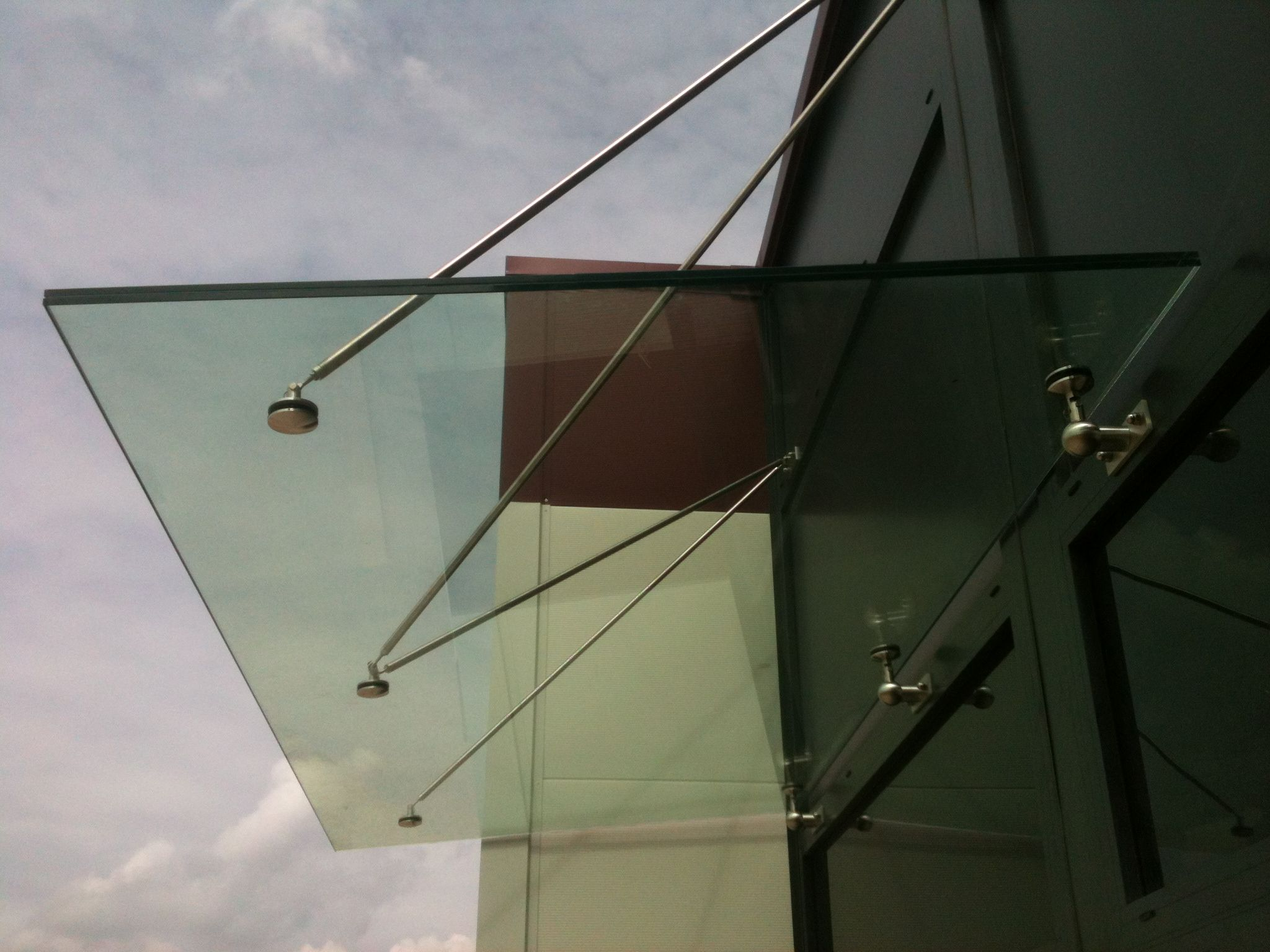 Glass canopy made to measure. & Auvent en verre sur mesure. Glass canopy made to measure. | Auvent ...
