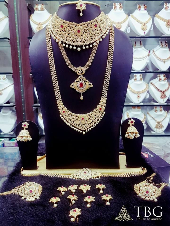 bcf1764cf A complete Bridal Jewellery Set which includes the necklace, chain, bangles  and other jewellery