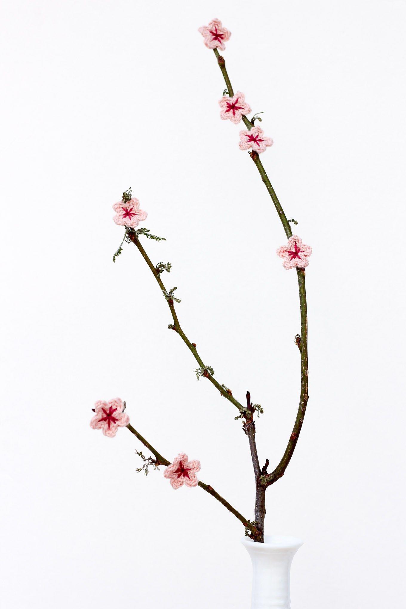 Free Crochet Cherry Blossom Pattern | Pinterest | Flores de ...
