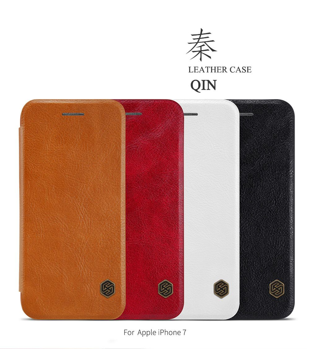 Handyhülle S6 Edge Leder Nillkin Flip Matte Thin Qin Leather Wallet Phone Covers