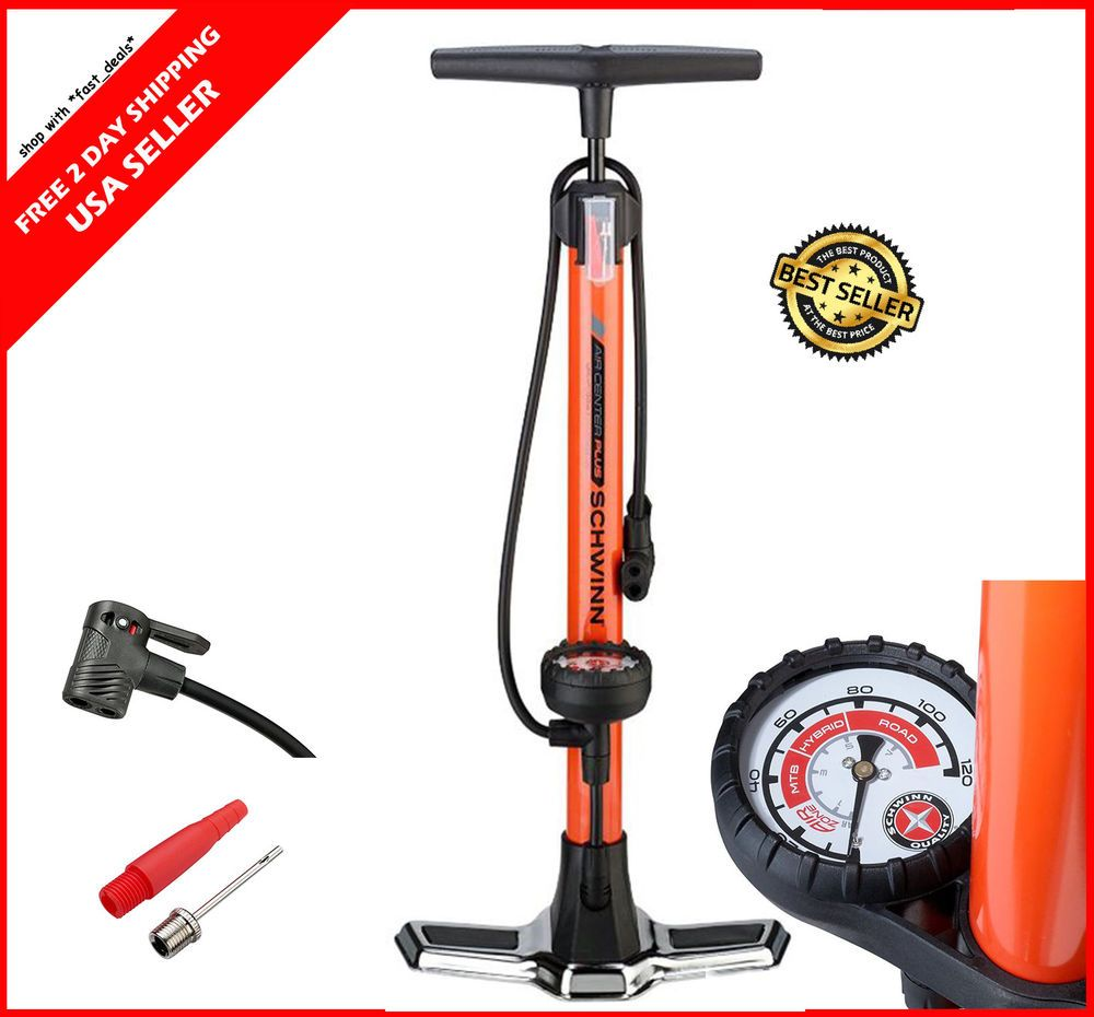 Tire Inflator With Gauge Mountain Bike Heavy Duty Bicycle Manual
