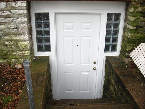 Below Grade Entry Basement Entrance Basement Makeover Basement Remodeling