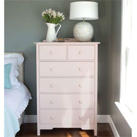 Bay Six Drawer Tall Dresser In Choice Of Finish Poshliving
