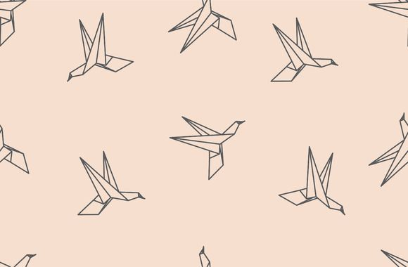 Photo of Origami bird seamless pattern by Woters little shop on Creative Market