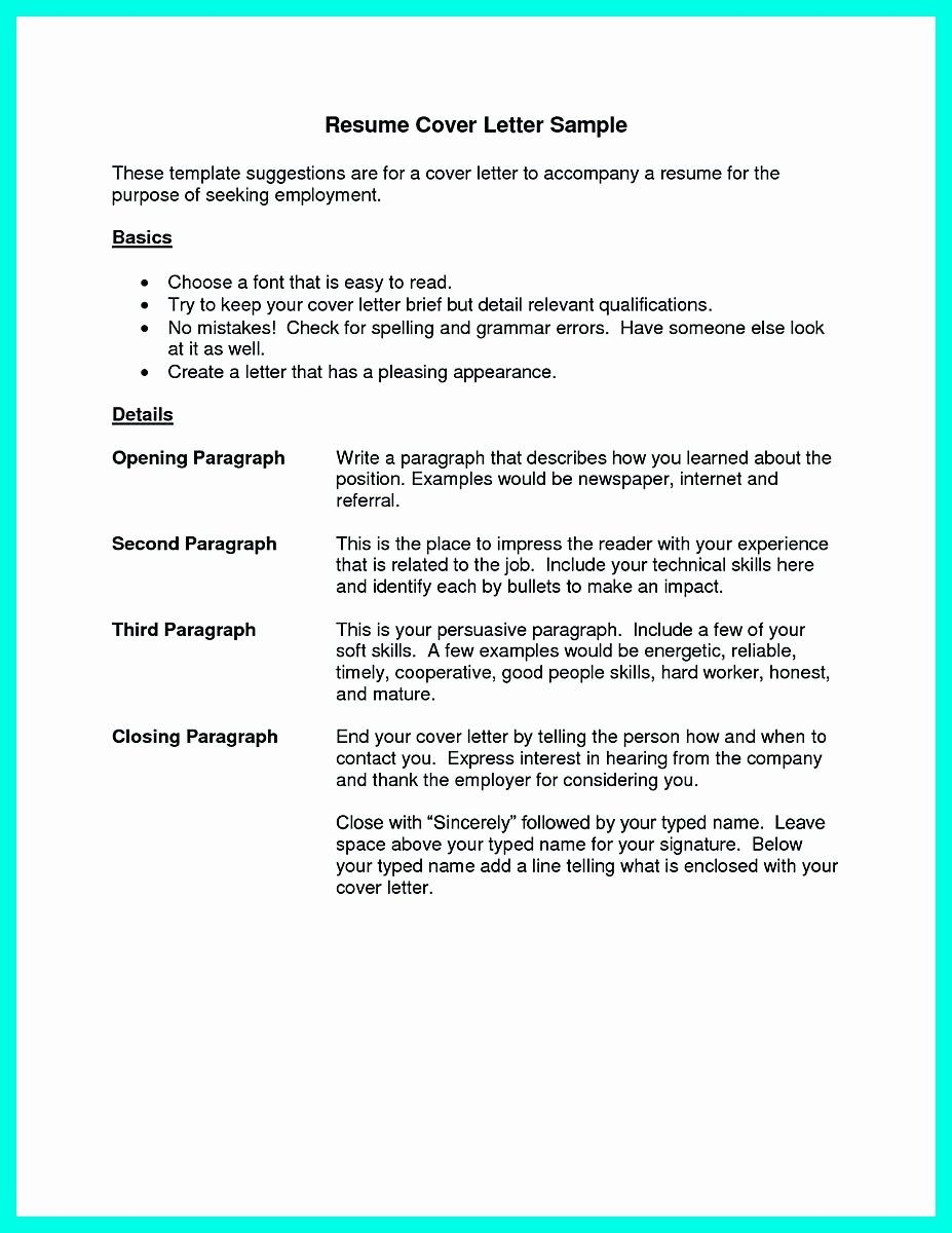 Cover Letter before Resume Inspirational Cocktail Server