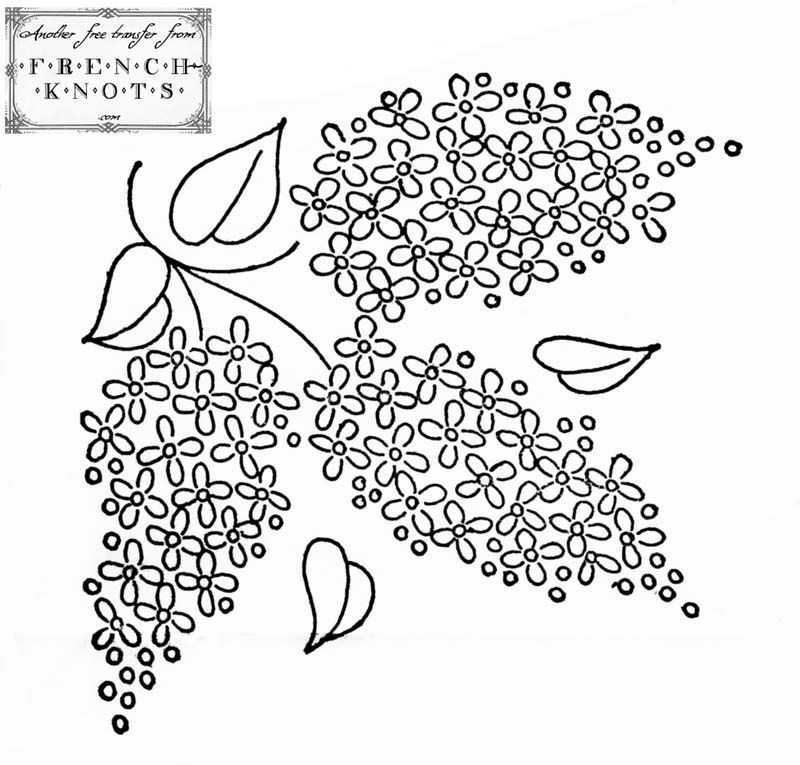 French knots embroidery patterns makaroka