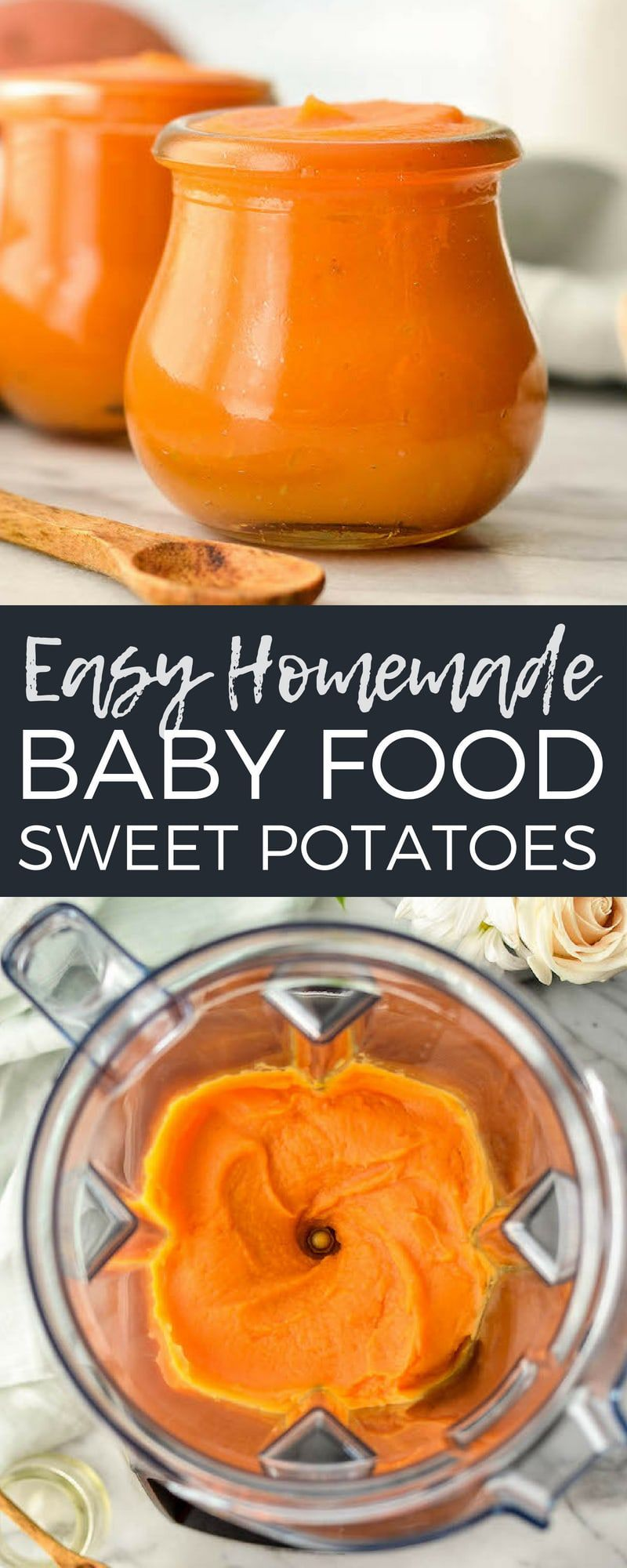 Easy Homemade Sweet Potato Baby Food! This recipe has only ...