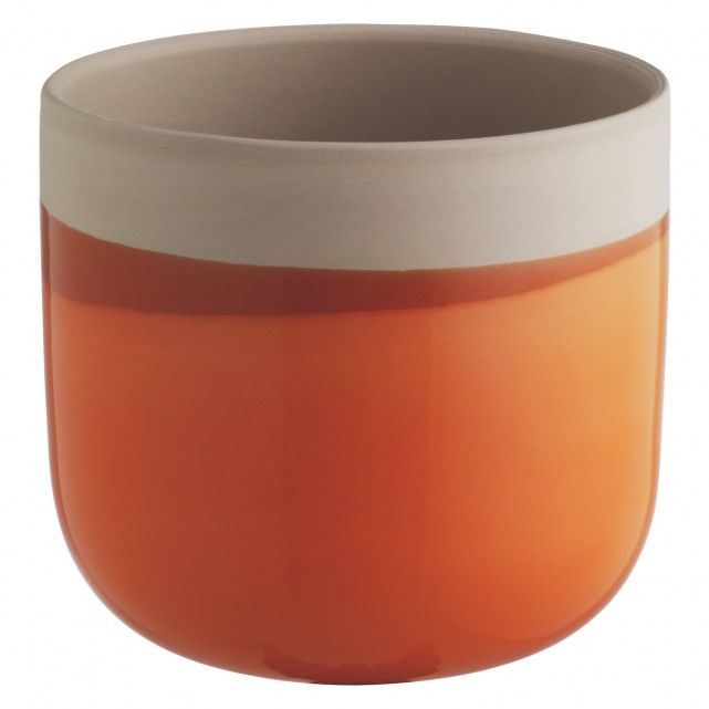 Dippy Orange Dipped Ceramic Plant Pot 12 X 14cm Ceramic Plant Pots Potted Plants Ceramics