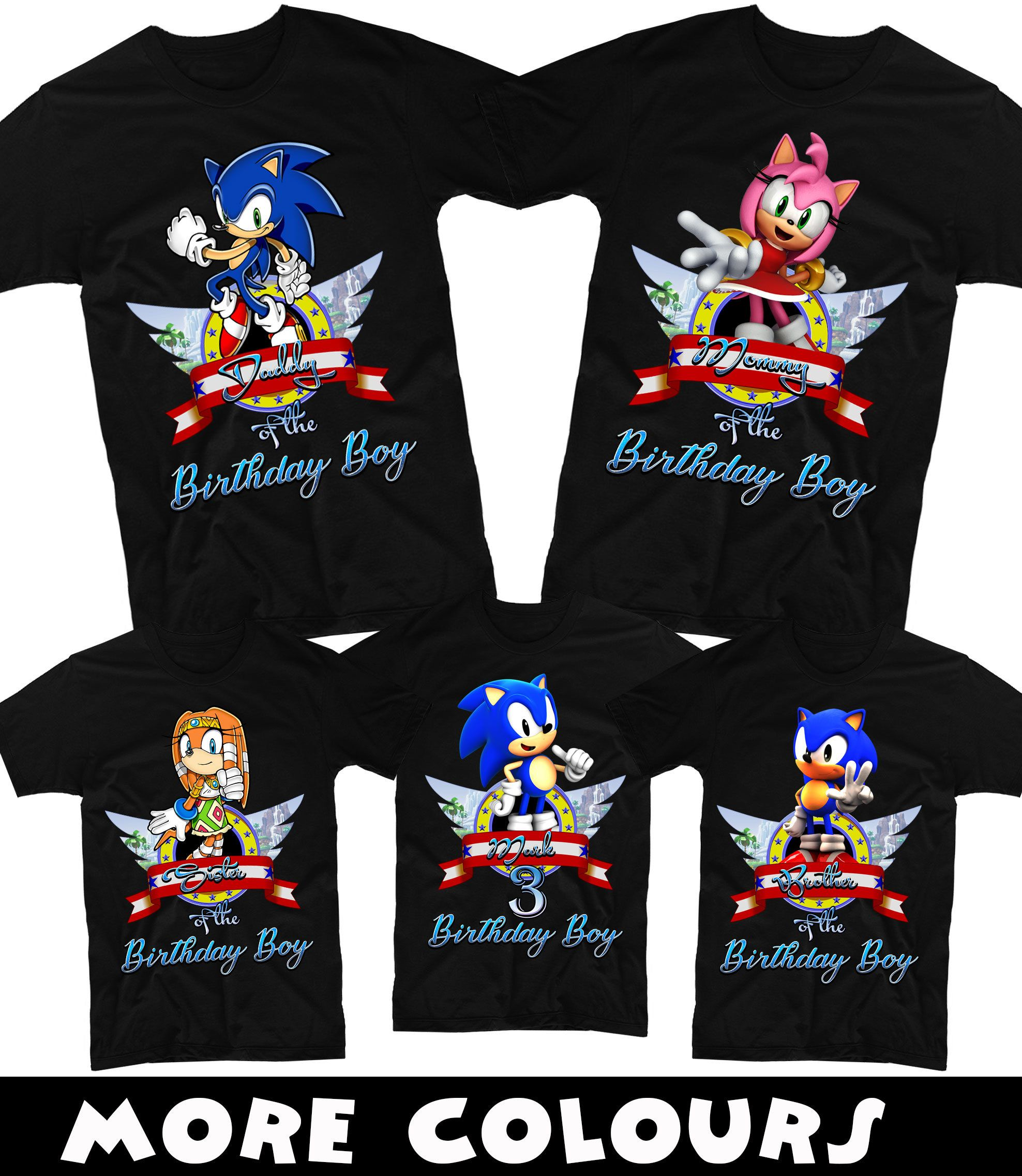Sonic Birthday Shirt Sonicfamily Birthday Shirt Sonic The Hedgehog Birthday Shirts Matching Sonic Sonic Birthday Sonic Birthday Parties Hedgehog Birthday