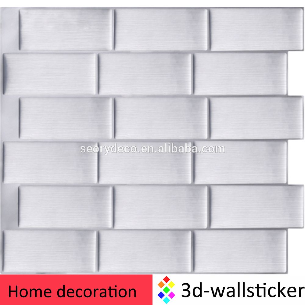 Peel And Stick Mosaic Decorative Vinyl Wall Tile For Kitchen And Bathroom Vinyl Wall Tiles Brick Wallpaper Sticker Wall Decor Stickers
