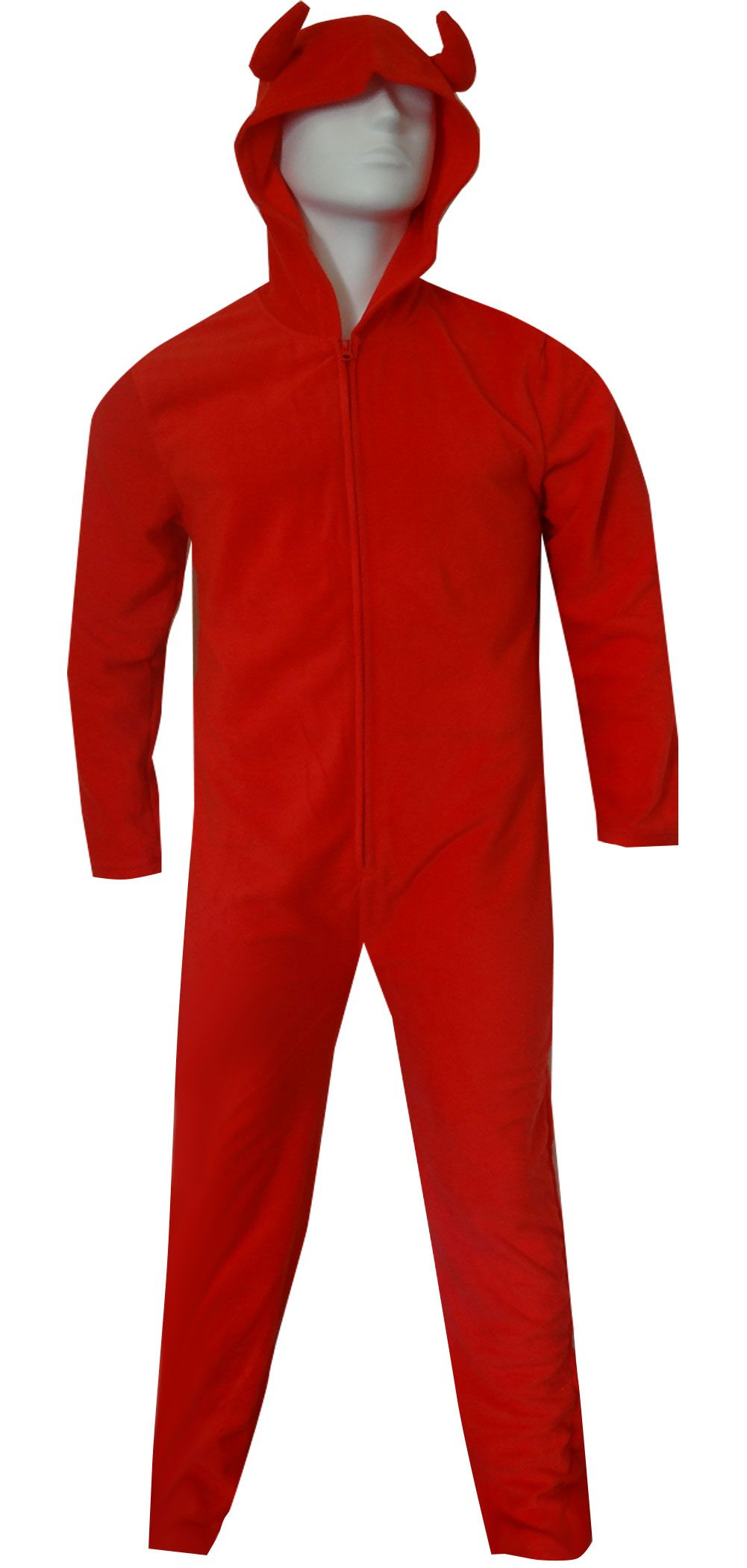 WebUndies.com Unisex Hooded Red Devil Onesie Pajama 014c9c444