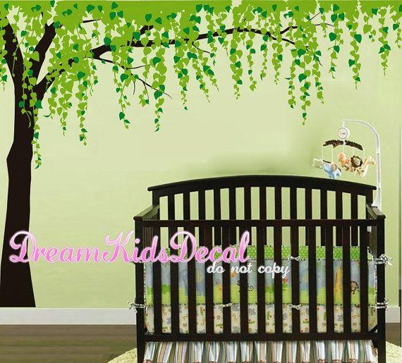 Tree Wall Decals-Cherry Blossom Tree Decal, Nursery Wall Sticker ...