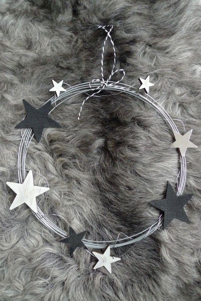 Drahtkranz mit Sternen - DIY #myposhpicks