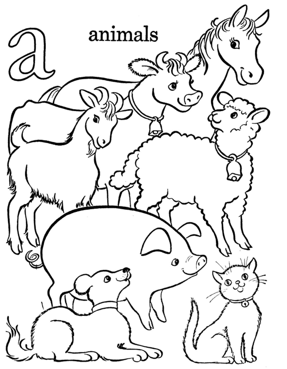 Printable farm animals coloring pages old macdonald had a farm