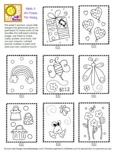 Camp Doll Diaries – Laura Kelly Mini Doodle Pages | Doll Diaries ...