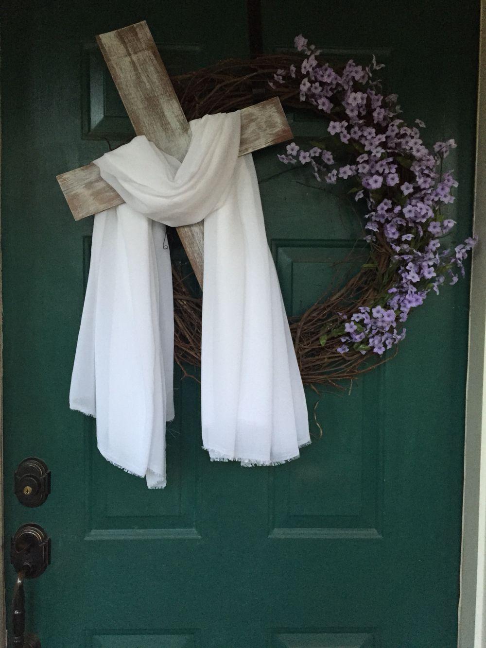He Is Risen Easter Wreath Easter Wreath Diy Easter Wreaths Easter Diy