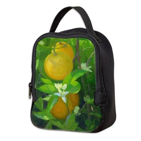 """Orange Tree"" design Neoprene Lunch Bag by Margaret Ann Missman on CafePress.com"