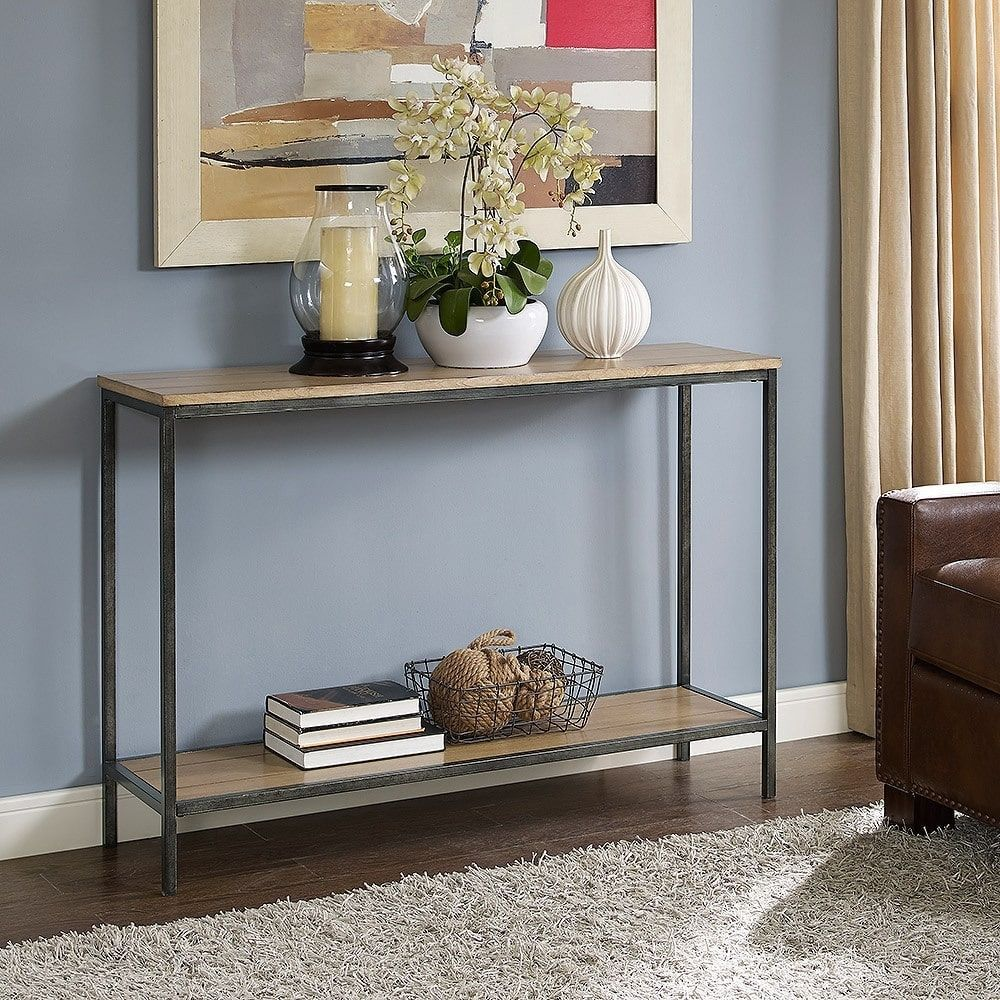 entryway console sofa table wood metal accent living room on small entryway console table decor ideas make a statement with your home s entryway id=81958